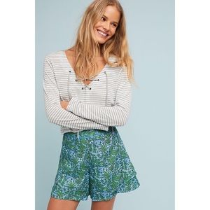 Anthropologie ett:twa Simone Tired Shorts Floral